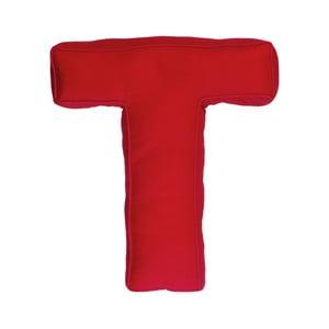 Poduszka w kształcie litery T, czerwona