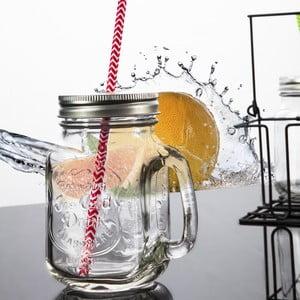 Zestaw 6 szklanek ze słomkami na stojaku Yoyo