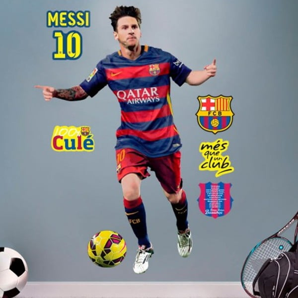 Naklejka FC Barcelone Messi