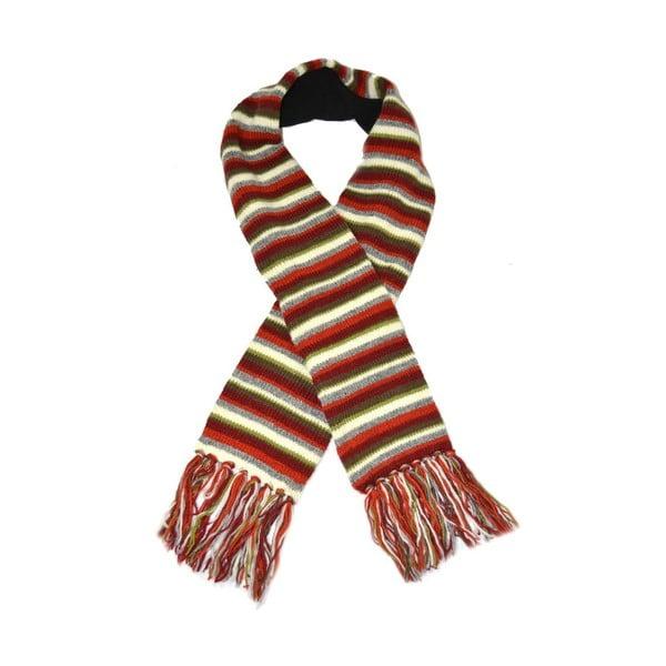 Wełniany szalik z polarową podszewką Colorfull Stripes