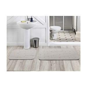Zestaw 2 dywaników łazienkowych Dekoreko Beyaz, 50x60 cm + 60x100 cm