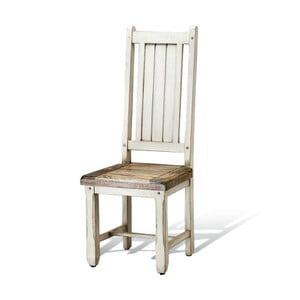 Białe krzesło z mahoniu Massive Home Patna