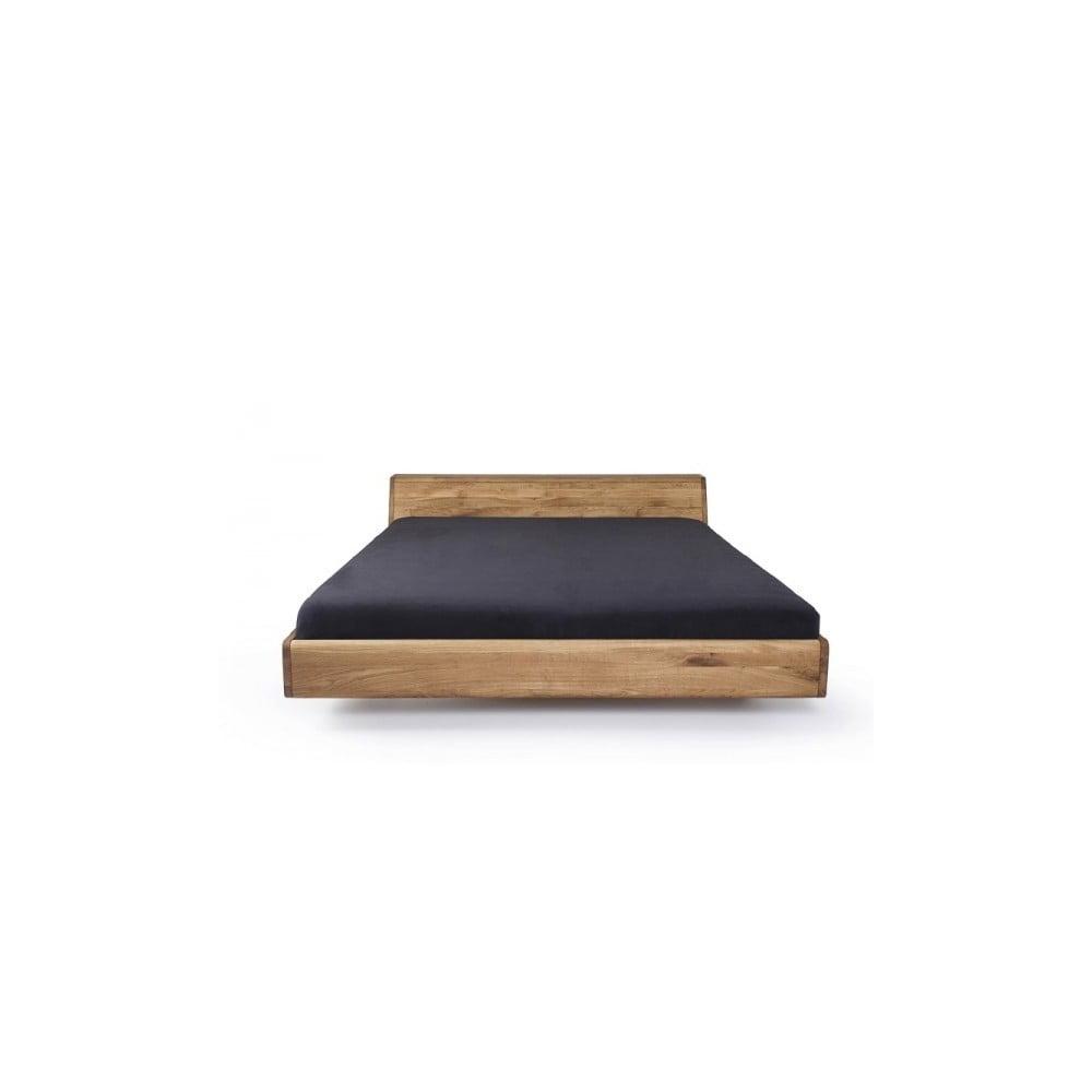 łóżko Z Woskowanego Drewna Dębowego Mazzivo Lugo 200x220 Cm Bonami