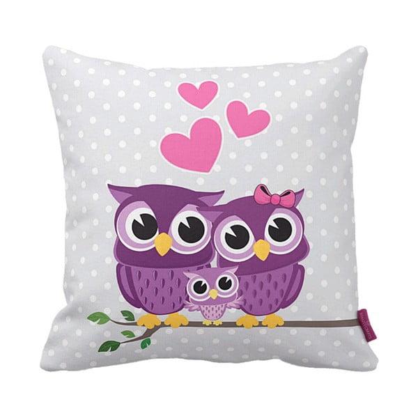 Poduszka Owl Family, 43x43 cm