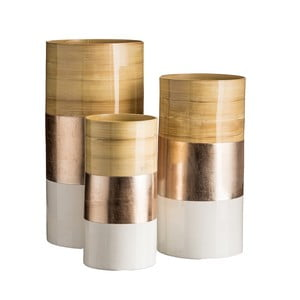 Zestaw 3 wazonów Ixia Bamboo Champagne