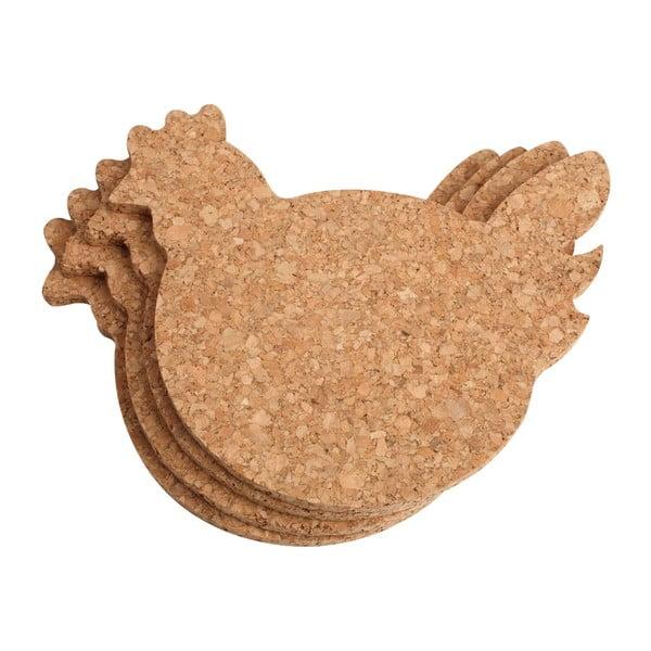 Zestaw 4 podkładek T&G Woodware Chicken
