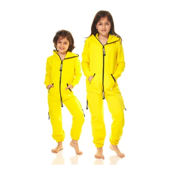 Żółty dziecięcy kombinezon domowy Streetfly, 12-13 lat