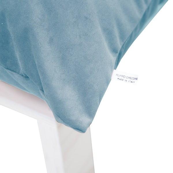 Fotel z poduszkowym oparciem Tanzania Light Blue