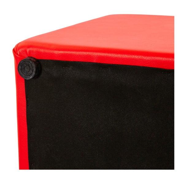 Czerwony puf Kokoon Rubik