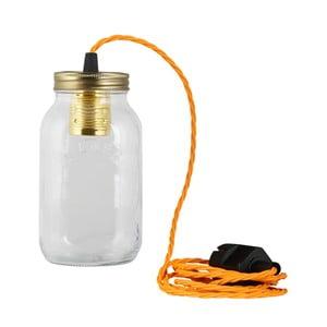Lampa JamJar Lights, jaskrawy pomarańczowy skręcony kabel