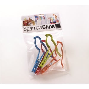 Komplet 4 spinaczy biurowych Design Ideas Sparrow Design Ideas Clips