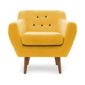 Żółty fotel Vivonita Kelly
