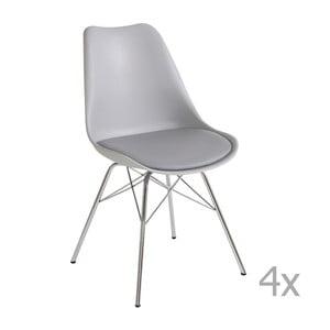 Zestaw 4 szarych krzeseł Støraa Jenny