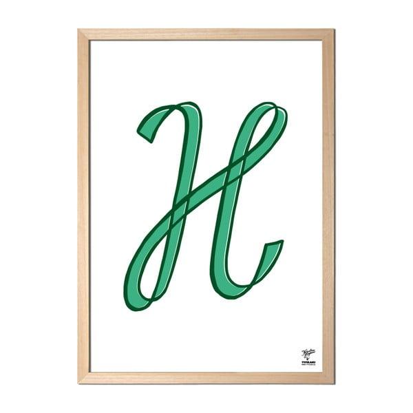 Plakat H designed by Karolina Stryková