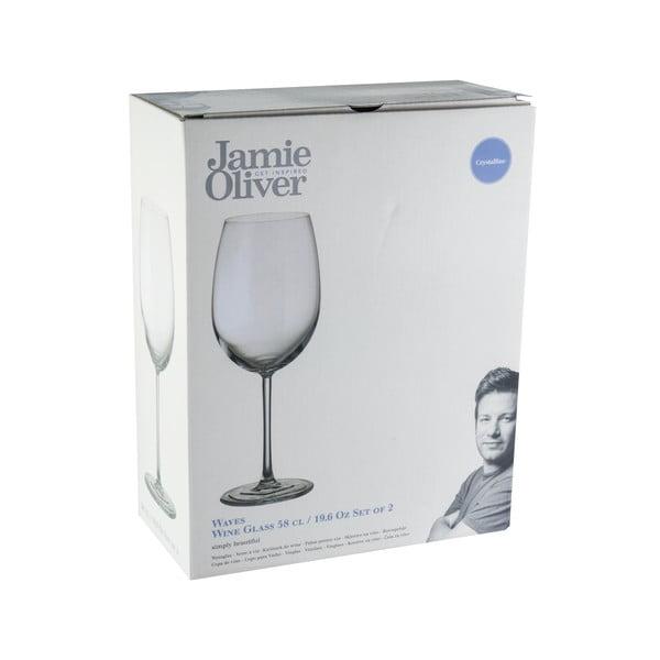 2 kieliszki do wina Jamie Oliver Waves, 580 ml