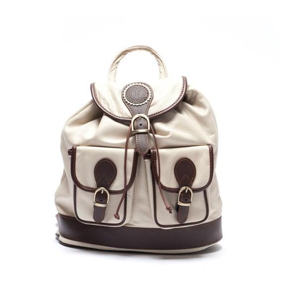 Skórzany plecaczek Mangotti 2038 Beige