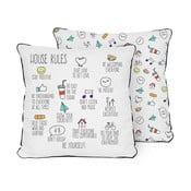 Poduszka Pillow House Rules, 45x45 cm