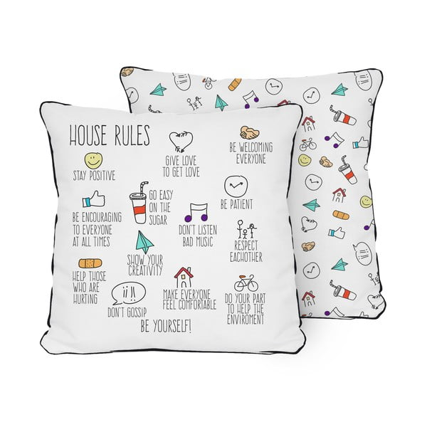 Poduszka Pillow House Rules, 45x45 cm