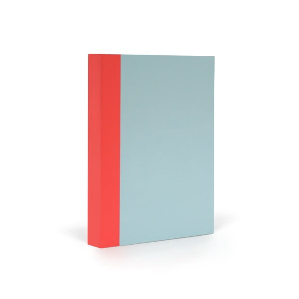 Notes FANTASTICPAPER A6 Skyblue/Warm Red, w linie