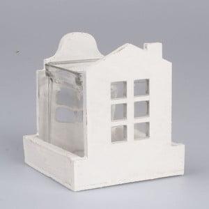 Biały świecznik Dakls