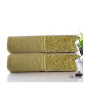 Zestaw 2 ręczników Samba Green, 50x90 cm