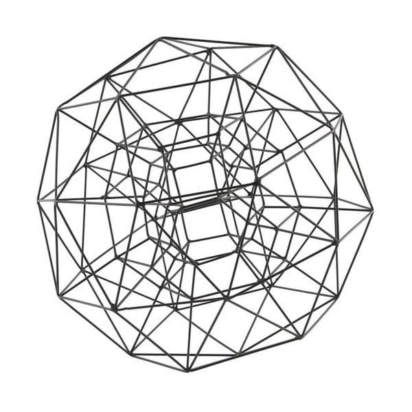 Dekoracja Globe Black, 29 cm