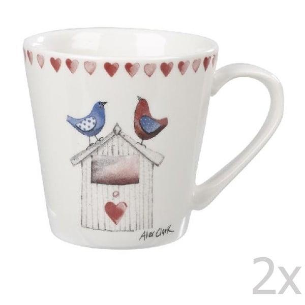 Komplet 2 kubków Lovebirds, 285 ml