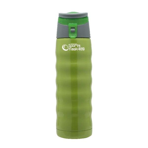 Zielona butelka sportowa Pioneer, 480 ml
