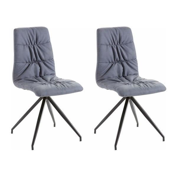 Zestaw 2 niebieskich krzeseł Støraa Gino