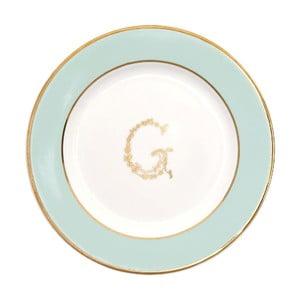 Niebiesko-biały talerzyk deserowy Green Gate