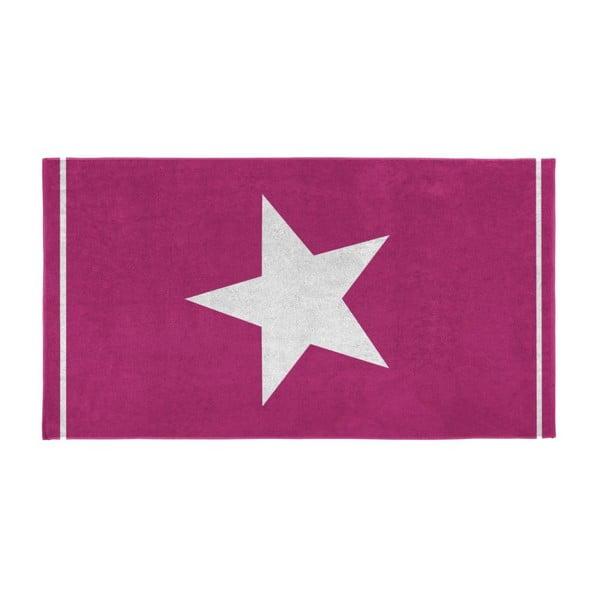 Ręcznik Star 100x180 cm, fuksja