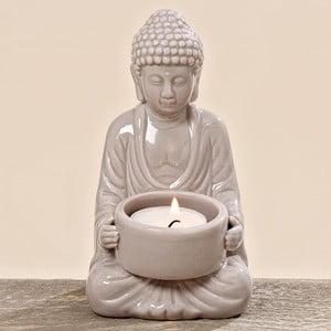 Świecznik Budhha White
