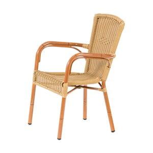 Brązoweogrodowe krzesło sztaplowane Massive Home Brava