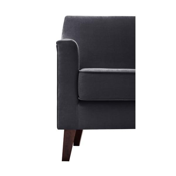 Czarny fotel Jalouse Maison Kylie