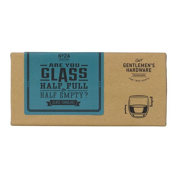 Zestaw 2 szklanek do whisky Gentlemen's Half Full