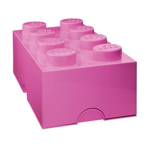 Ciemnoróżowy pojemnik prostokątny LEGO®
