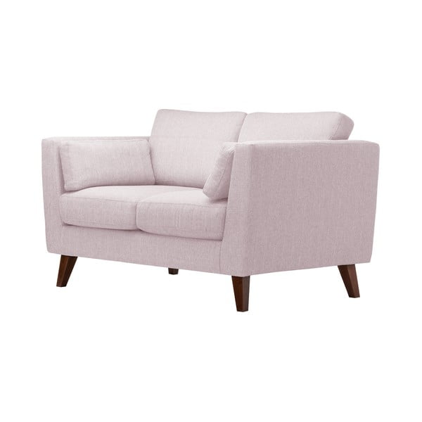 Pastelowo różowa sofa dwuosobowa Jalouse Maison Elisa