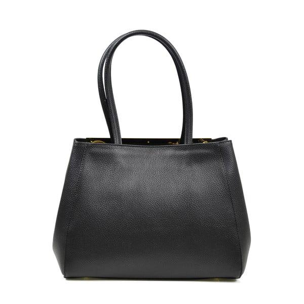 Skórzana torebka Elsa, czarna