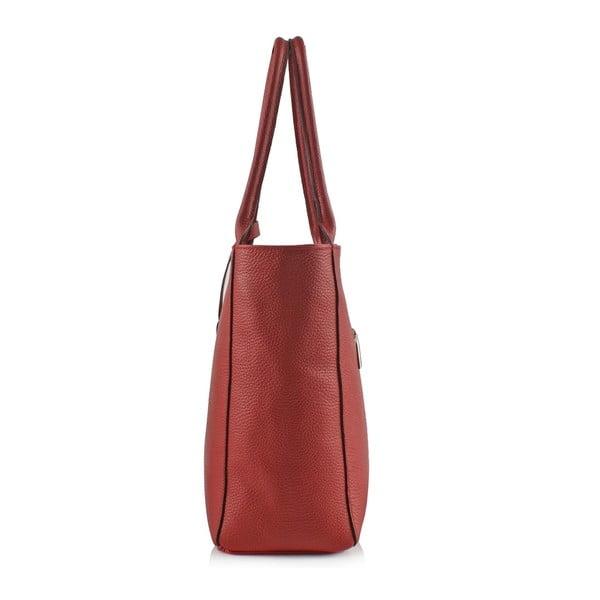 Skórzana torebka Boscollo Red 3322