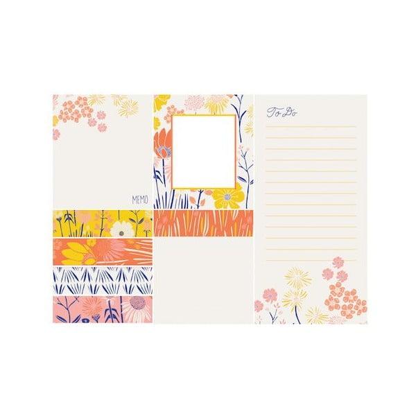 Zestaw karteczek samoprzylepnych Galison Mudpuppy Meadowfield Sticky Notes