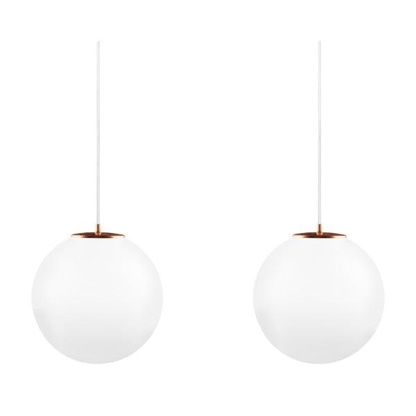 Lampa podwójna Tsuki L Elementary opal matte/copper/white/white