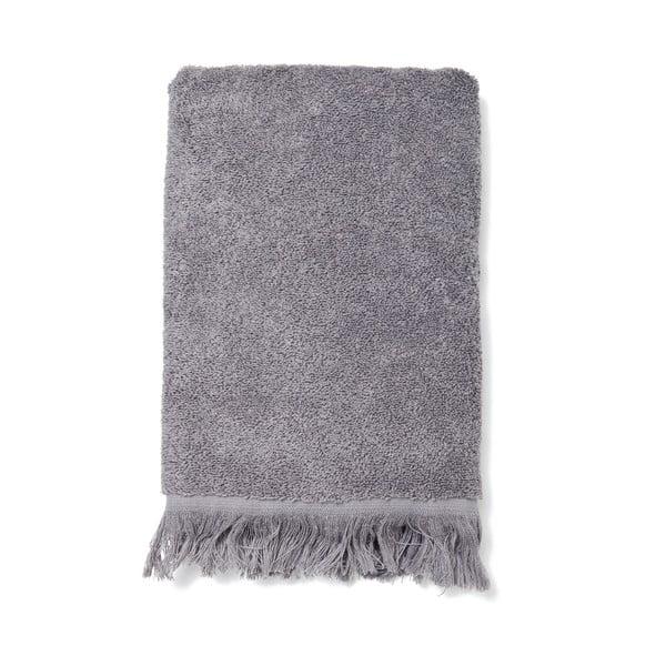 Komplet 2 szarych ręczników bawełnianych Casa Di Bassi Face, 50x90 cm
