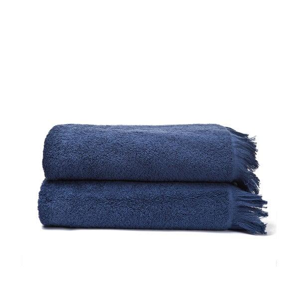 Komplet 2 niebieskich ręczników kąpielowych z bawełny Casa Di Bassi Bath, 70x140 cm