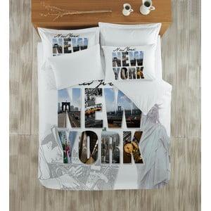 Komplet pościeli z prześcieradłem New York Cover, 200x220 cm