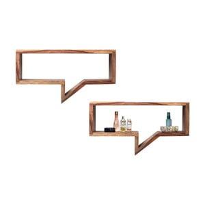 Zestaw 2 półek z drewna sheesham Kare Design Speech