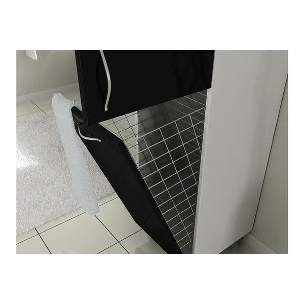 Szafka łazienkowa z koszem na pranie Mundo Black