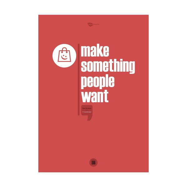 Plakat Make something people want, 70x50 cm