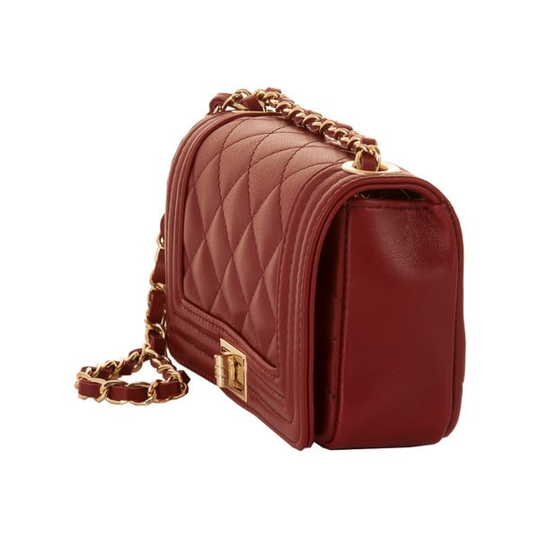 Czerwona torebka skórzana Andrea Cardone Elena