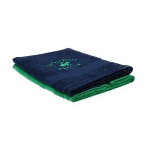 Zestaw granatowego i zielonego ręcznika Beverly Hills Polo Club Tommy Orj, 50x100cm