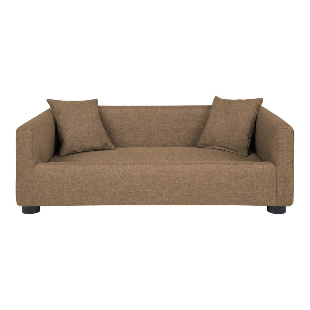 Piaskowobrązowa sofa dla psa z 2 poduszkami dekoracyjnymi Marendog Princess